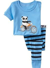 Panda-Motorcycle PJ Sets for Baby