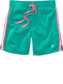 Girls Active Mesh Shorts