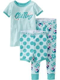 Graphic 3-Piece PJ Sets for Baby