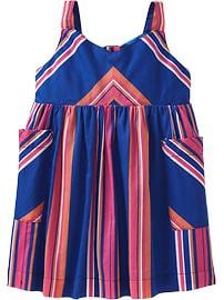 Multi-Stripe Sundresses for Baby