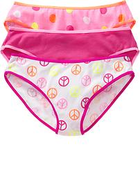 Girls Printed Bikini 3-Packs