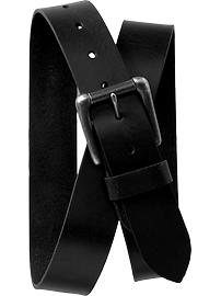 Men's Black Leather Belts