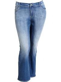 Women's Plus The Rockstar Slim Boot-Cut Distressed-Wash Jeans
