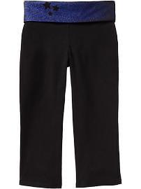 Girls Fold-Over Yoga Capris