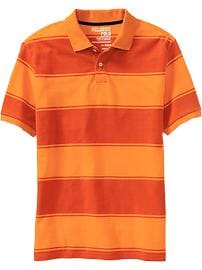 Men's Classic Striped-Pique Polos