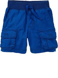 Ribbed-Waist Cargo Shorts for Baby