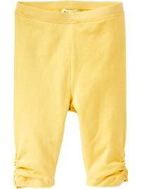 Ruched Jersey-Capri Leggings for Baby