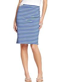 Women's Striped Jersey Pencil Skirts