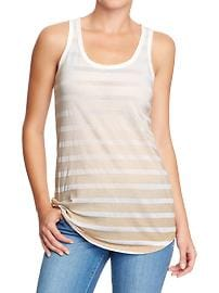 Women's Burnout-Stripe Tanks