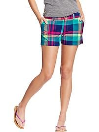 "Women's Plaid-Print Madras Shorts (3-1/2"")"