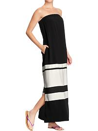 Women's Color-Blocked Tube Maxi Dresses