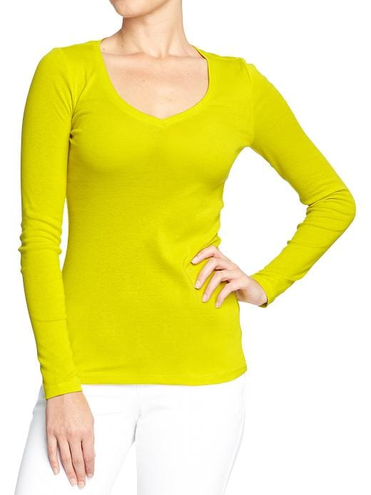 Perfect V Neck Tees - End of the lime     Item#:650786112