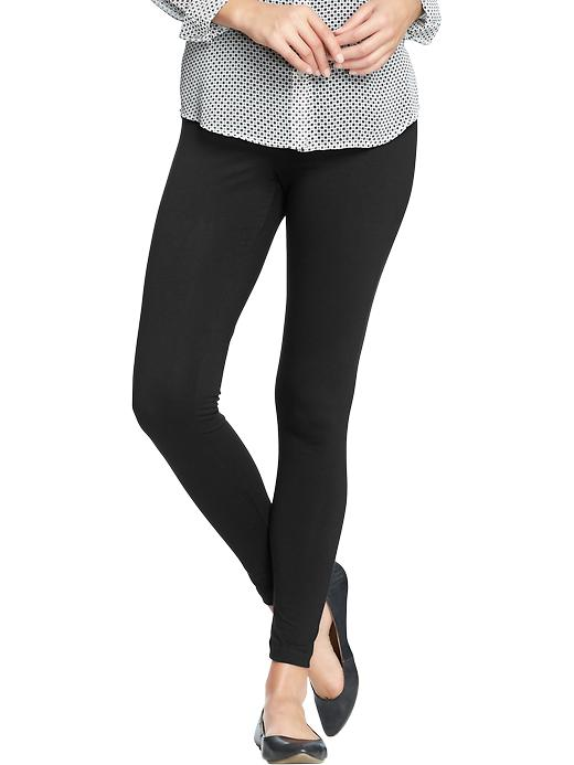 Old Navy Womens Jersey Leggings - Black jack