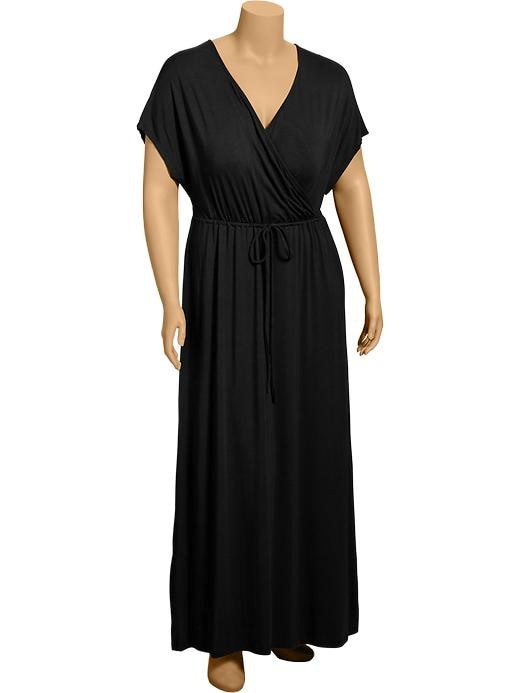 Old Navy Womens Plus Cross Front Maxi Dresses - Black jack