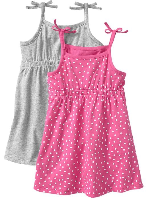 Old Navy Jersey Tank Dress 2 Packs For Baby - Heather gray
