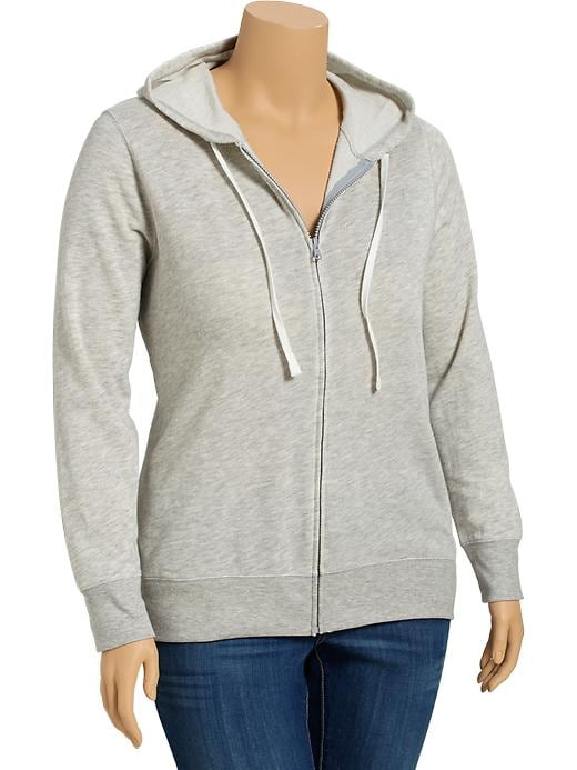 Old Navy Womens Plus Lightweight Terry Fleece Hoodies - Dark heather grey