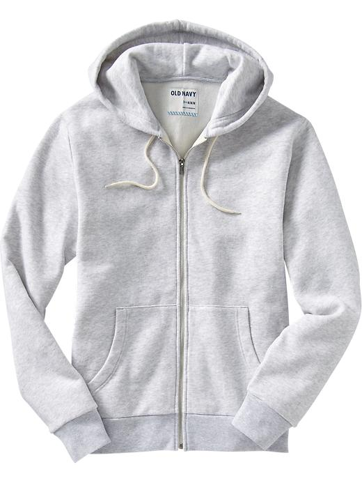 Old Navy Mens Zip Front Drawstring Hoodies Size XXL Big - Light heather gray