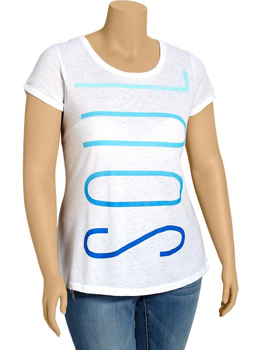 Old Navy Womens Plus Active Godry Graphic Tees - Bright white