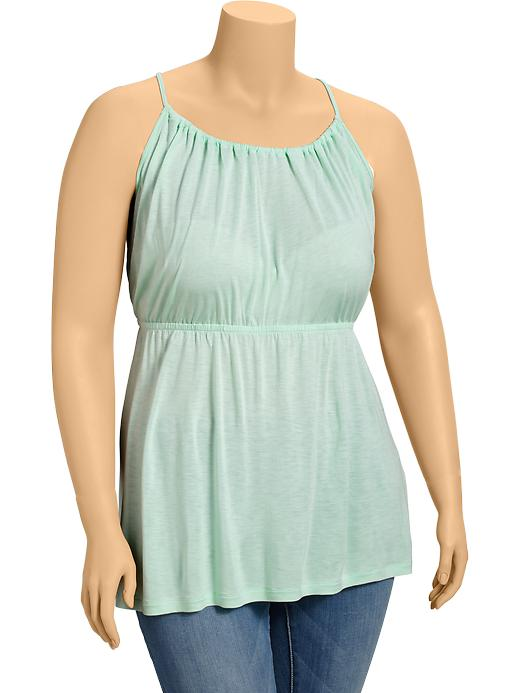 Old Navy Womens Plus Suspended Neck Camis - Mini mint