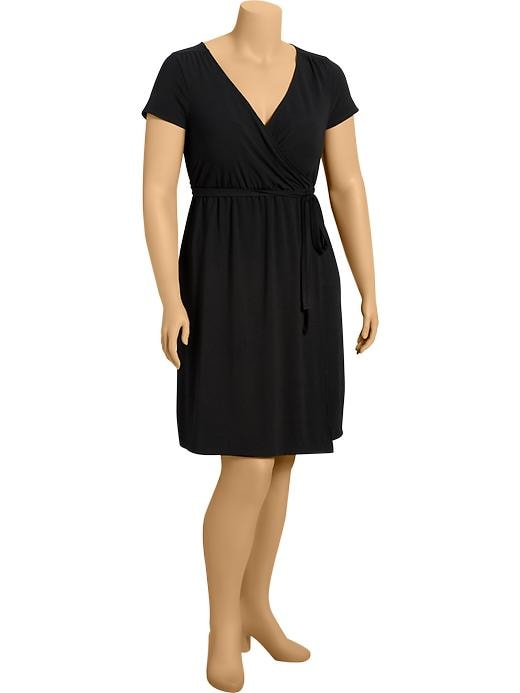 Old Navy Womens Plus Wrap Front Dresses - Black jack