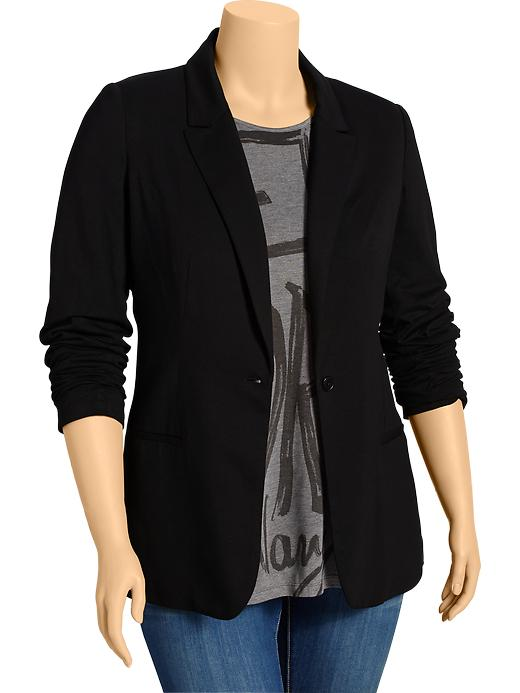 Old Navy Womens Plus Blazers - Black jack