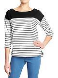 OldNavy.com deals on Old Navy Women's Striped Heavyweight Tops