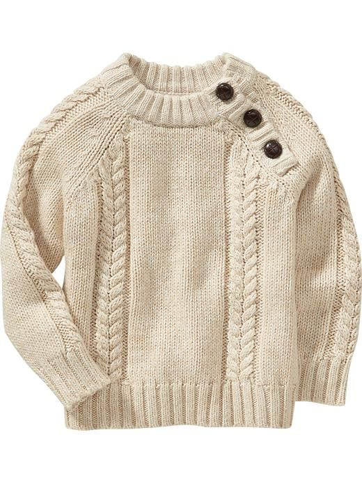 Knitting On The Net Buttonhole : Old navy cable knit shoulder button sweaters for toddler