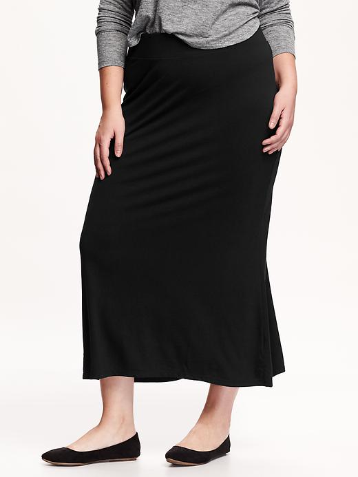 Old Navy Womens Plus Jersey Maxi Skirts Size 1X Plus - Black jack plus size,  plus size fashion plus size appare