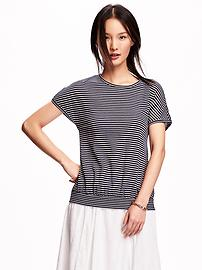 Honeycomb-Knit Banded-Hem Top for Women