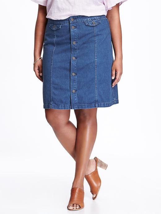 Old Navy Hi Rise Plus Size Denim Skirt Size 28 Plus - Sanora plus size,  plus size fashion plus size appare