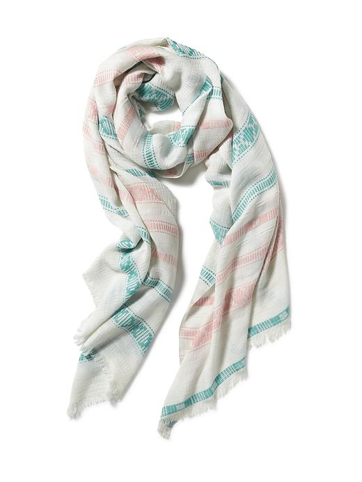Textured Stitch Linear Scarf for Women