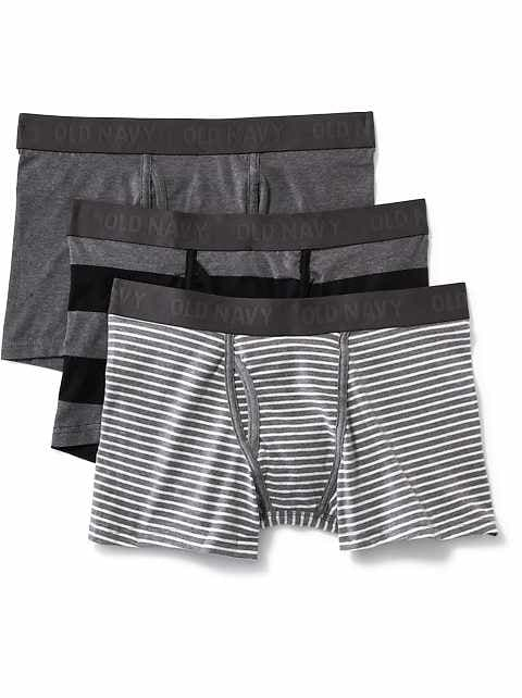 Soft-Washed Built-In Flex Boxer Briefs 3-Pack for Men
