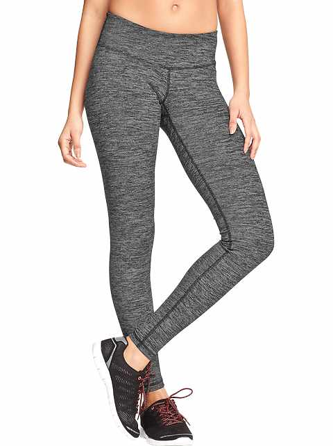 Mid-Rise Jersey Performance Leggings for Women