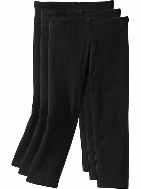 Capri-Leggings 3-Pack for Girls