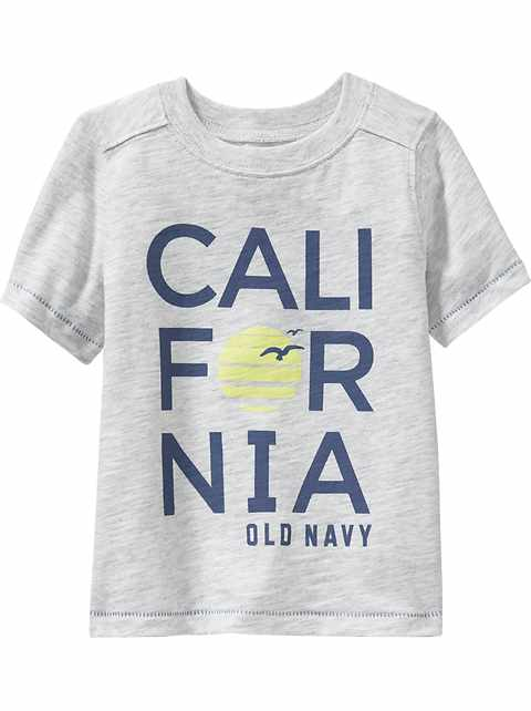 """California"" Tees for Toddler Boys"