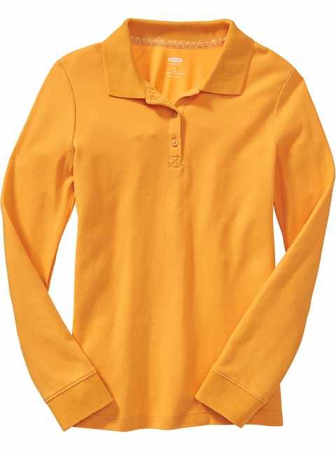 Uniform Long-Sleeve Polo for Girls