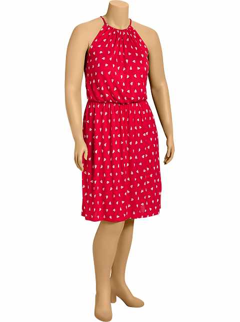 Women's Plus Nautical-Print Jersey Dresses