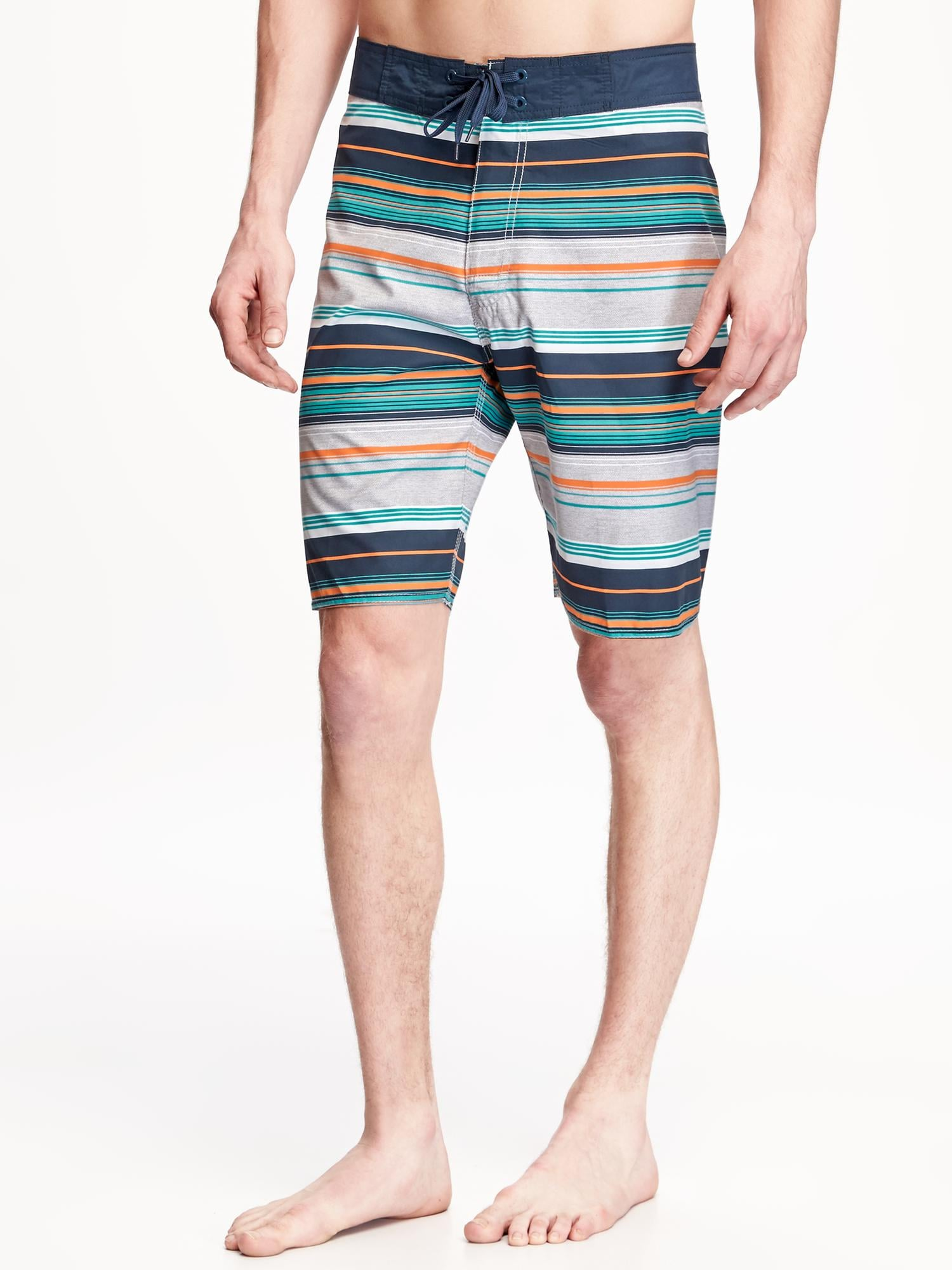 "Striped Board Shorts for Men (9"")"