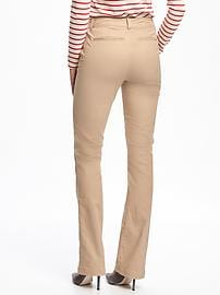 a69972c38d6 Mid-Rise Boot-Cut Khakis for Women