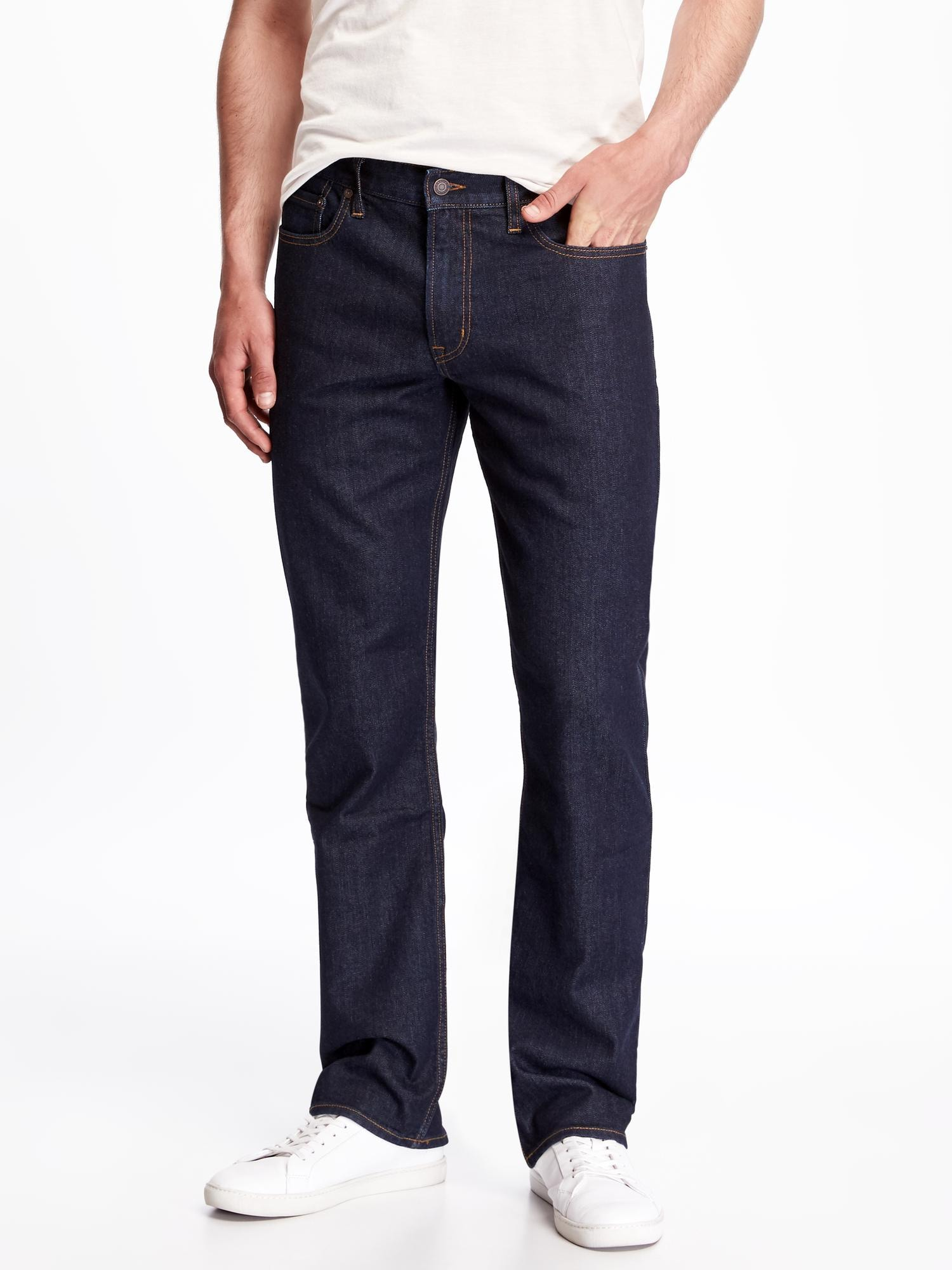 Old Navy Straight Built-In Flex Jeans For Men