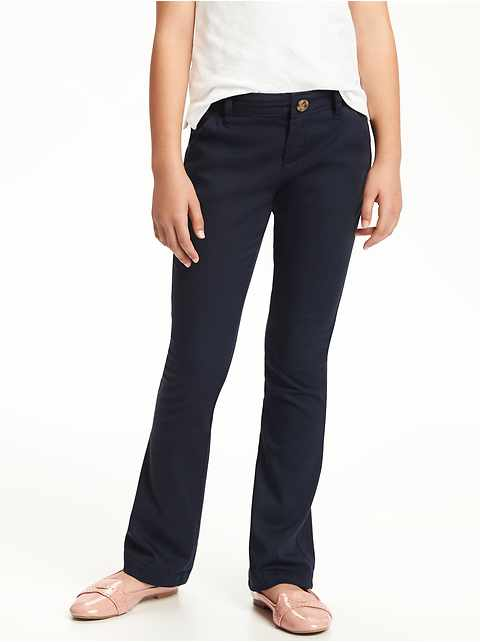 Uniform Bootcut Pants for Girls