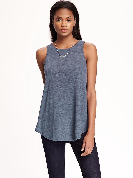 Old Navy Relaxed Hi Neck Texture Tank For Women Size M - Pirate coast