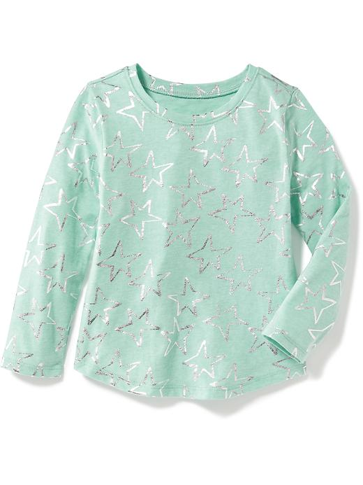 Long-Sleeve Printed Scoop-Neck Tee for Toddler | Old Navy