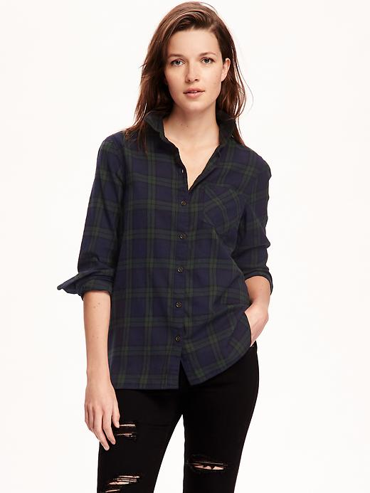 2 Old Navy Women Classic Flannel Shirt (Multi Colors)