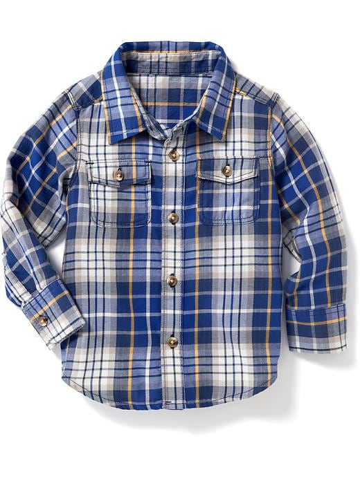 Plaid Double-Pocket Shirt for Toddler