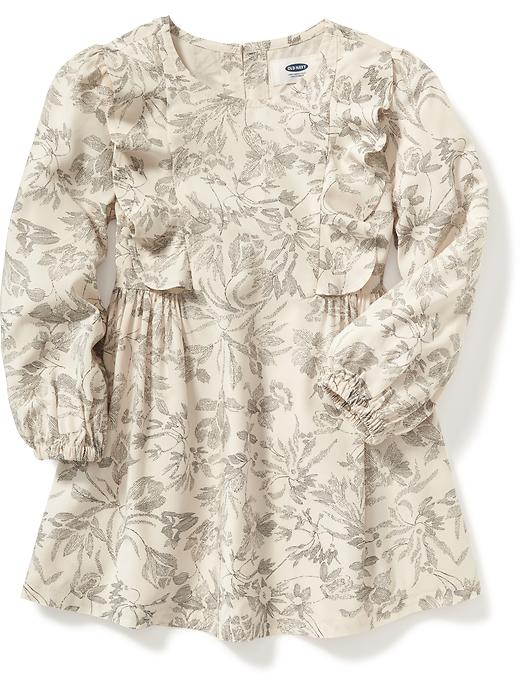 A-Line Ruffle Dress for Toddler