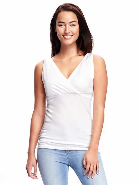 Maternity Cross-Front Jersey Nursing Tank