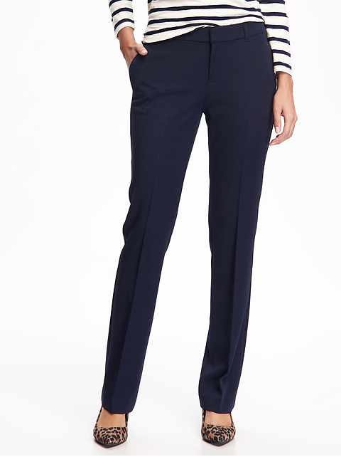 Mid-Rise Straight Trousers for Women