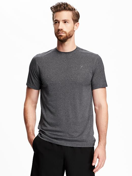 4-Pack Old Navy Go-Dry Performance Crew-Neck Mens T-Shirt (Black / Neon Glow)