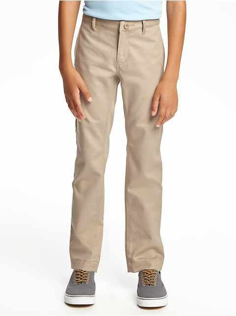 Flat-Front Skinny Uniform Khakis for Boys